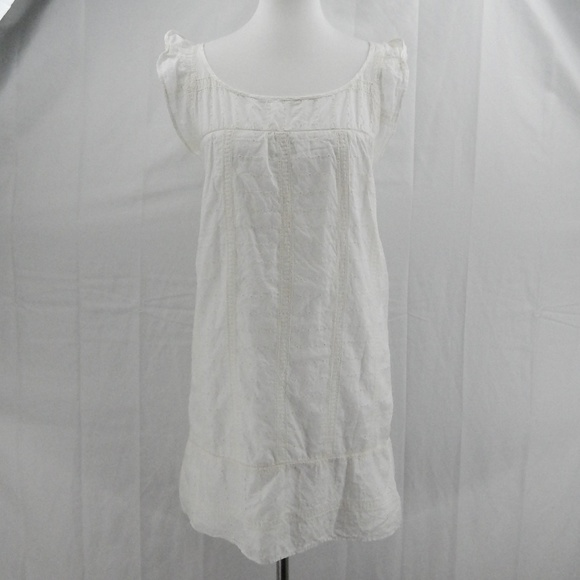 b3f828b66a Zara White Eyelet Cotton Dress, Tiny Cap Sleeves. M_5b3e2ac6df0307d5da3cc4eb